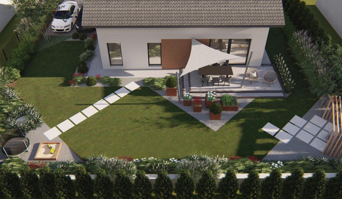 Trawy w ogrodzie – projekt zagospodarowania ogrodu.